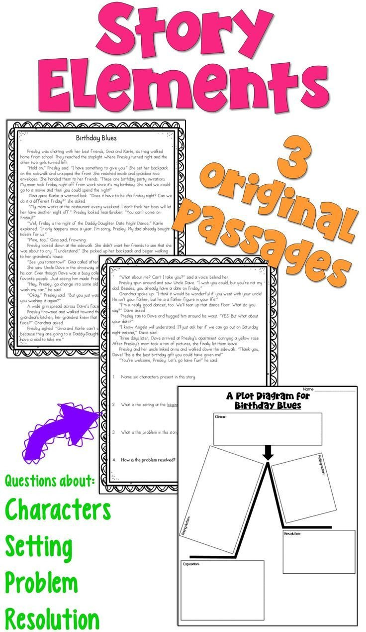 Character Setting Plot Worksheet Story Elements Worksheets Pdf and Digital
