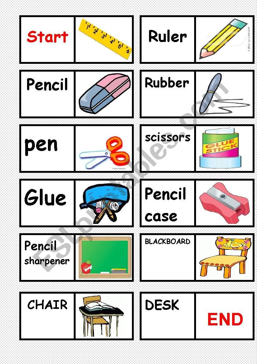 Classroom Objects Worksheets Pdf Classroom Objects Domino Esl Worksheet by Uniboy
