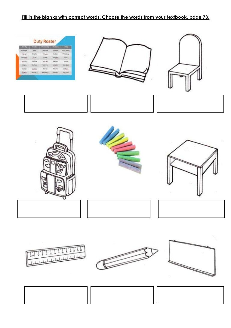 Classroom Objects Worksheets Pdf Classroom Objects Textbook Page 73
