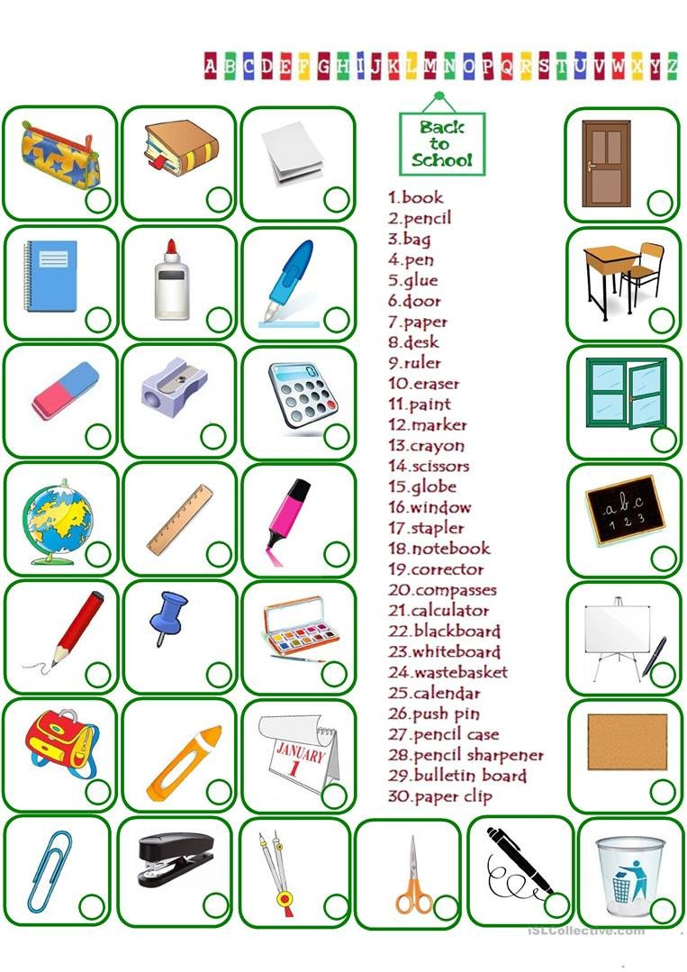 Classroom Objects Worksheets Pdf English Esl Classroom Objects Worksheets Most Ed