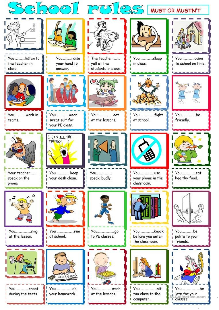 Classroom Rules Worksheet English Esl Classroom Rules Worksheets Most Ed 40