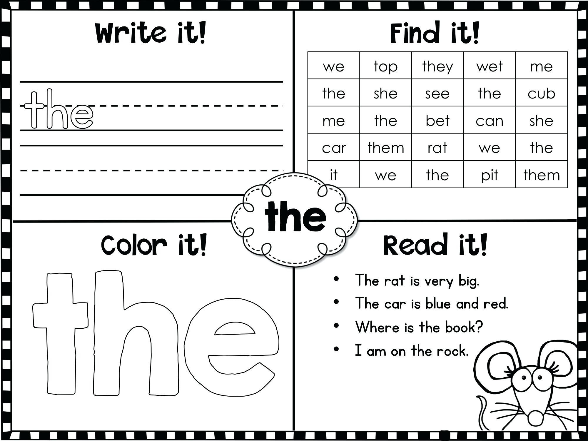 Color Word Worksheets for Kindergarten Worksheet Kindergarten Application form Easy Science Fair