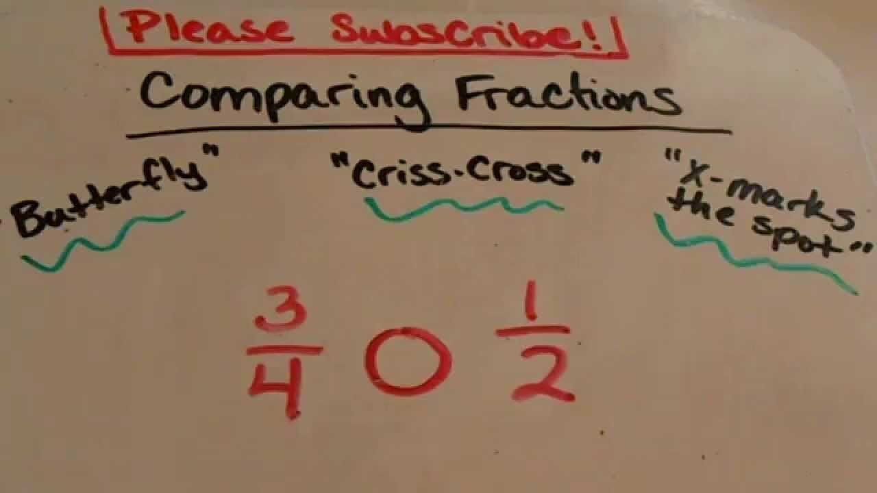 Comparing Fractions Third Grade Worksheet Paring Fractions Trick 3rd Grade and Up