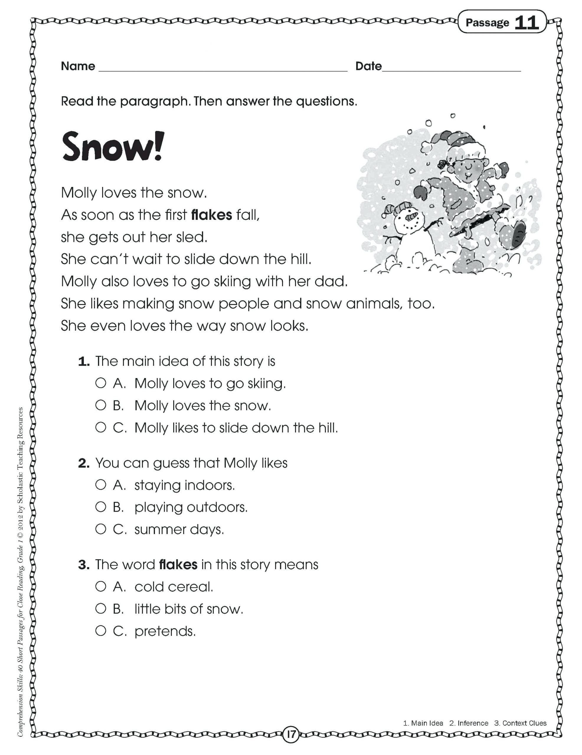 Comprehension Worksheets 6th Grade Pin On Grade Main Idea Worksheets