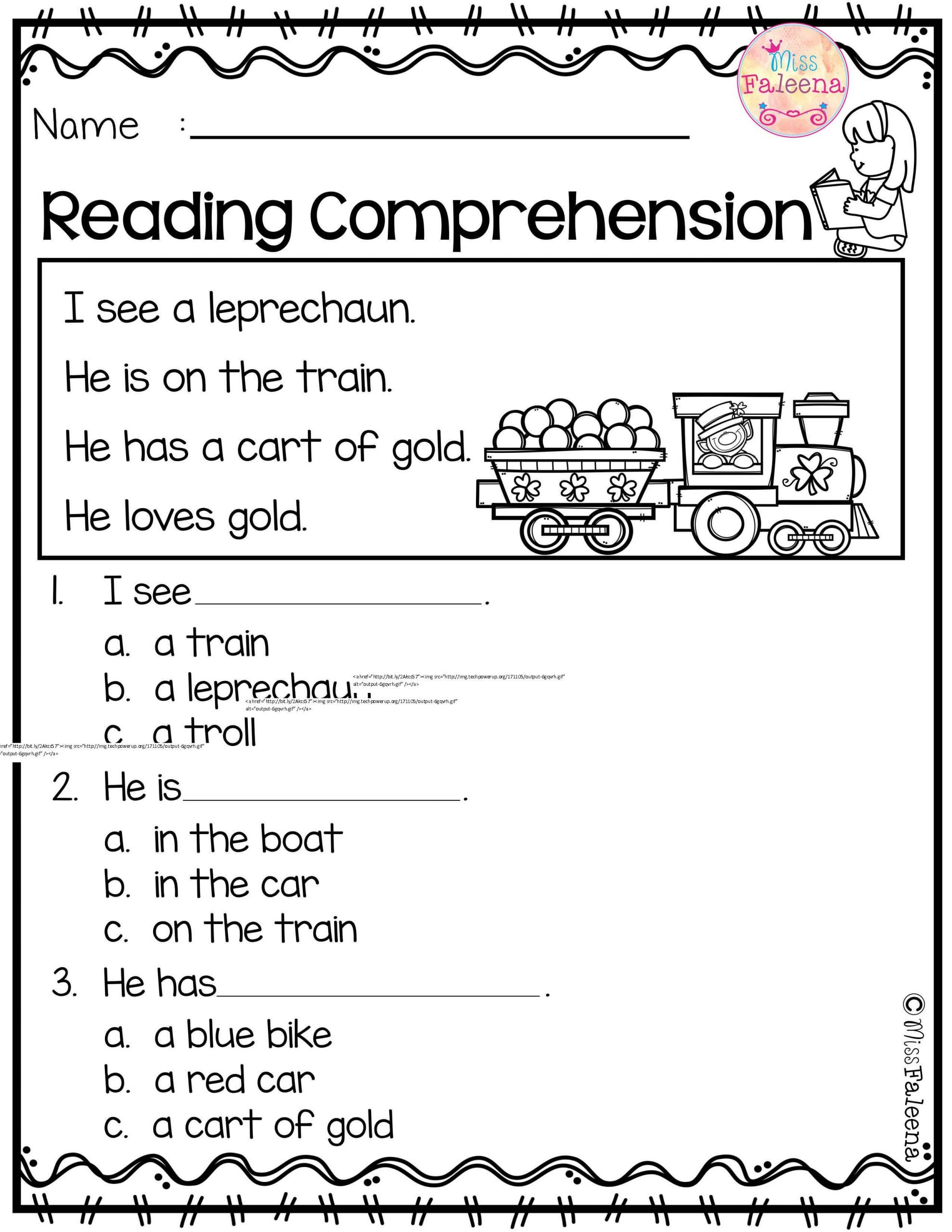 Comprehension Worksheets for Kindergarten March Reading Prehension is Suitable for Kindergarten