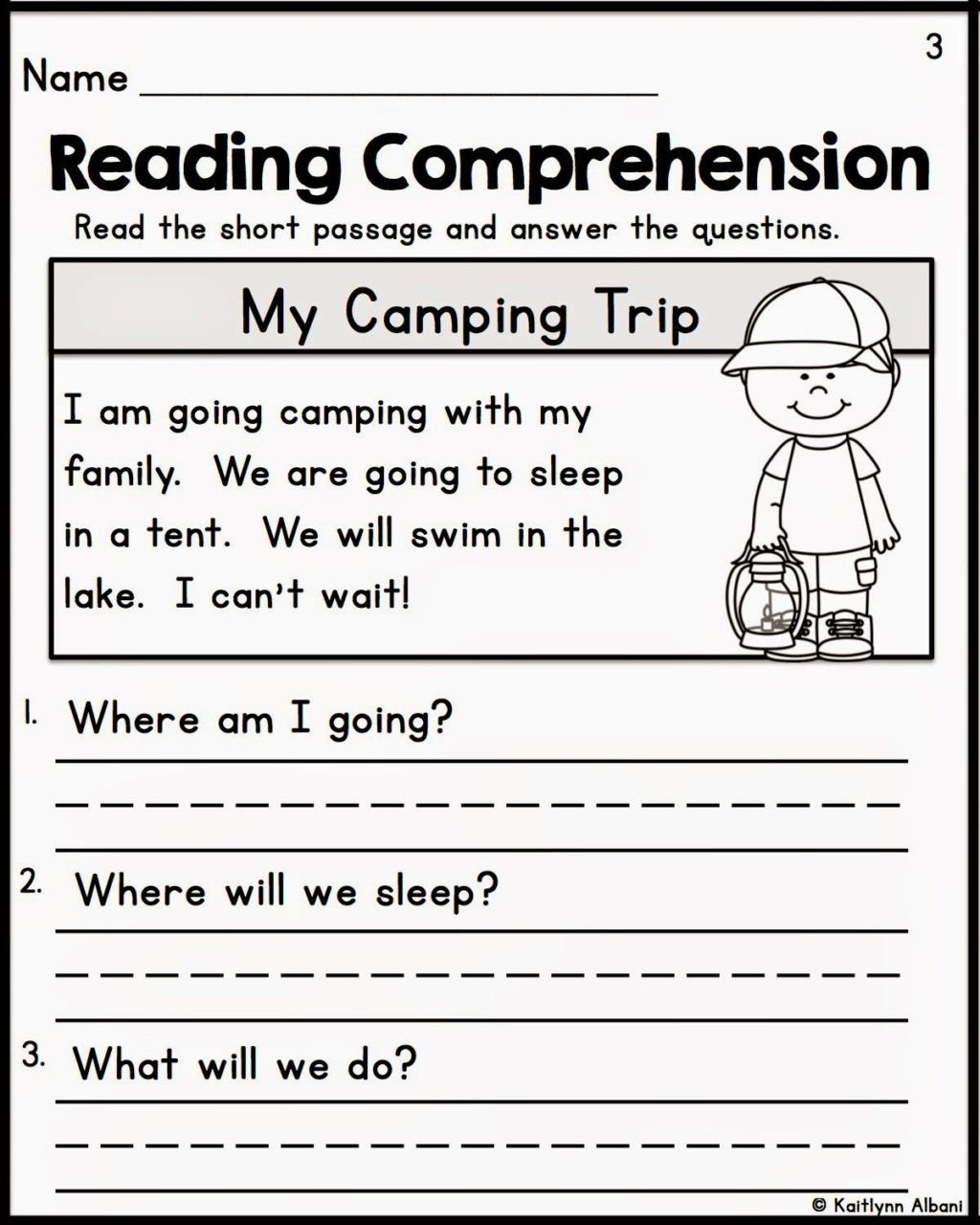 Comprehension Worksheets for Kindergarten Worksheet Reading Prehension Worksheets 1st Grade