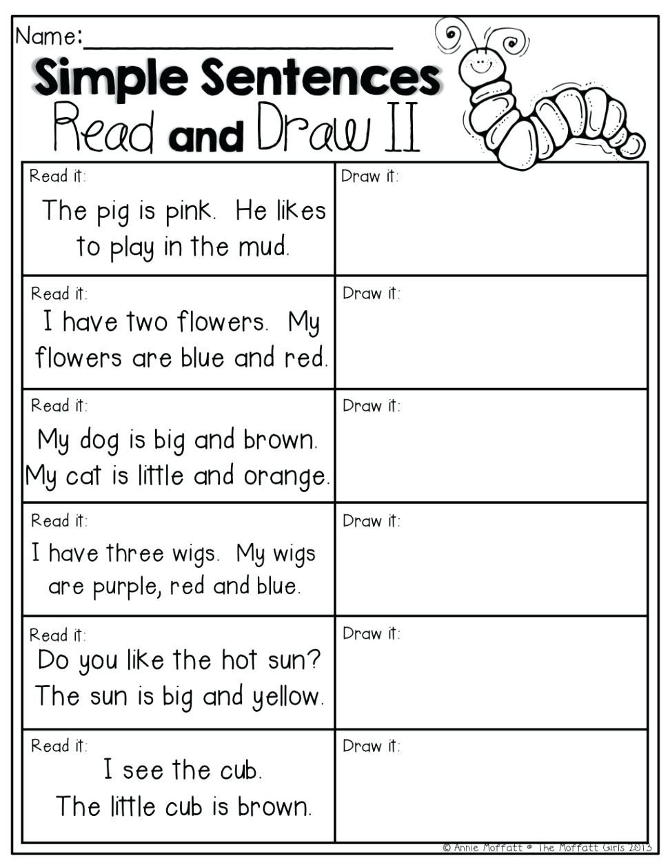 Comprehension Worksheets for Kindergarten Worksheet Short Reading Prehension Worksheets Fun Esl