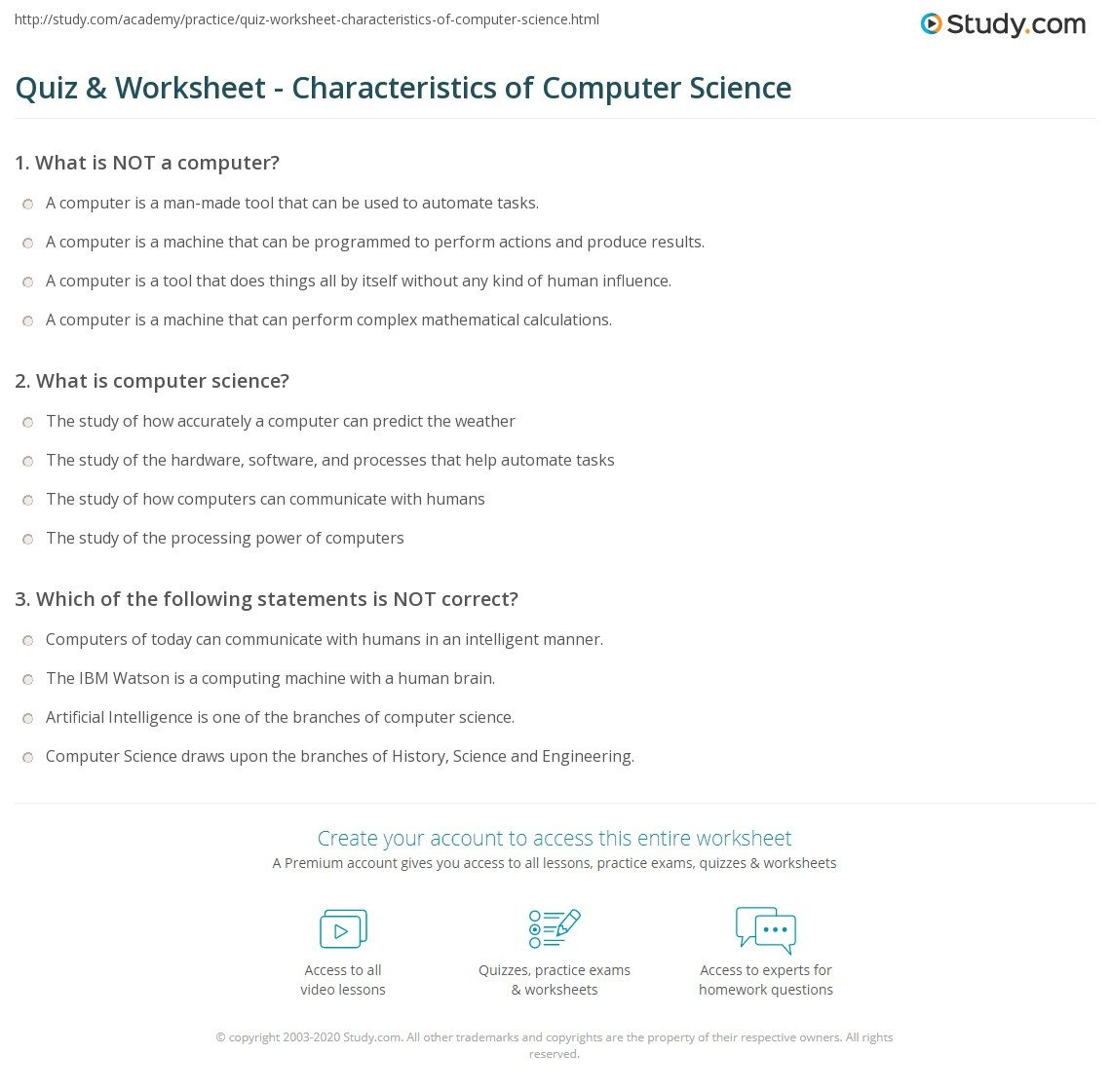 Computer Worksheets for Grade 1 Puter Science Worksheets