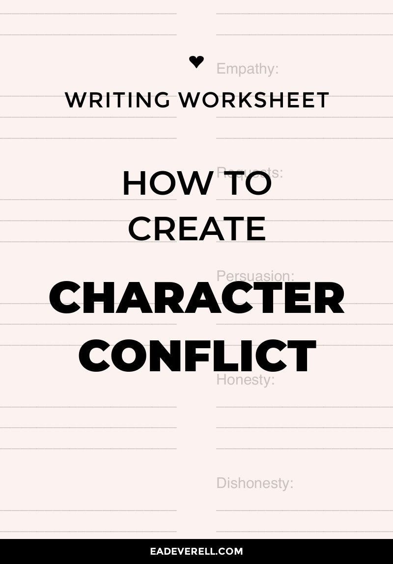 Conflict Practice Worksheets Character Conflict How to Create Pound & Resolve Conflict