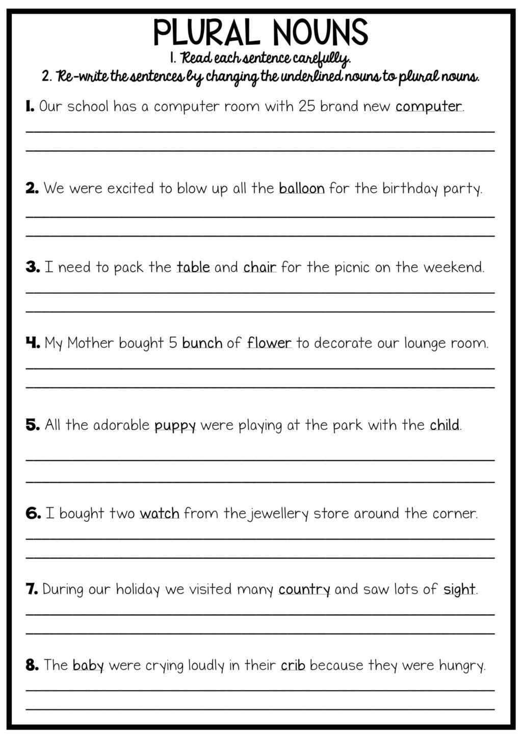 Conjunctions Worksheets for Grade 3 Worksheet Worksheet Free Printable English Grammar