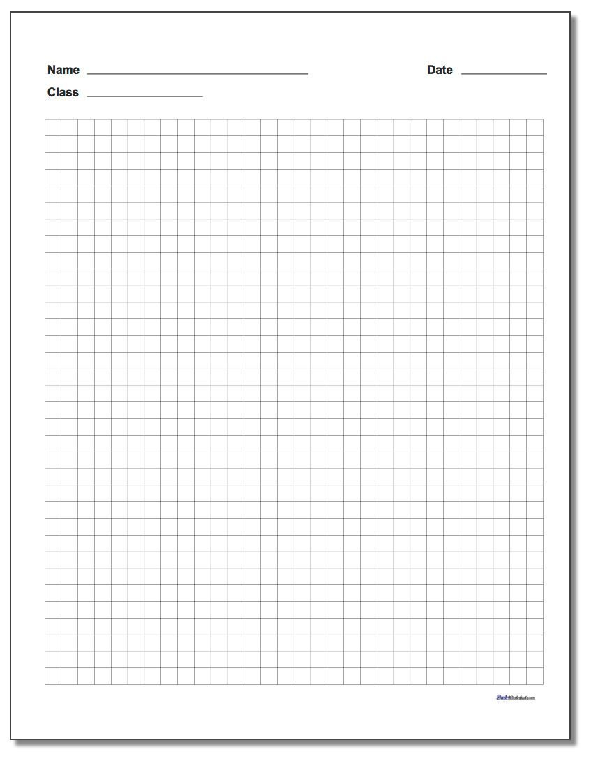 plain graph paper with name quarter inch