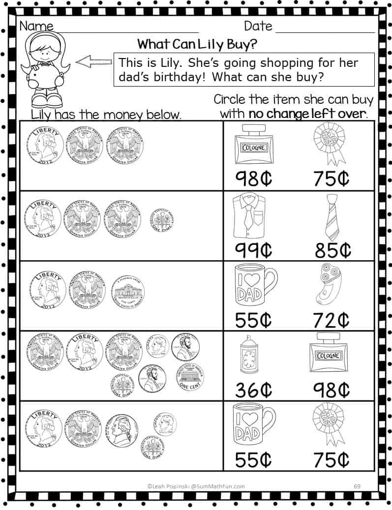 Counting Change Back Worksheets How to Absolutely Love Teaching Money Sum Math Fun
