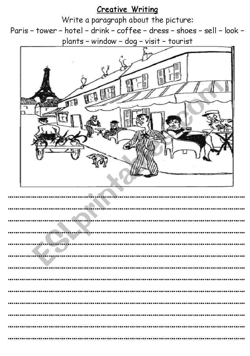 Creative Writing Worksheets for Adults Creative Writing Esl Worksheet by Roma Ama