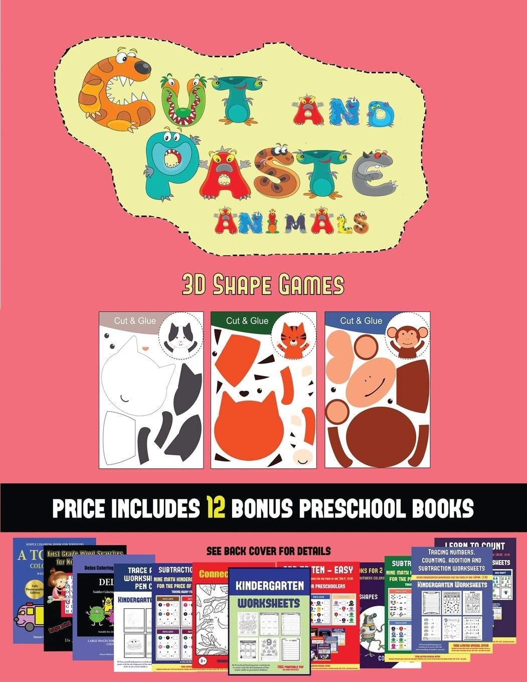 Cut and Paste Worksheets Free 3d Shape Games Cut and Paste Animals A Great Diy Paper