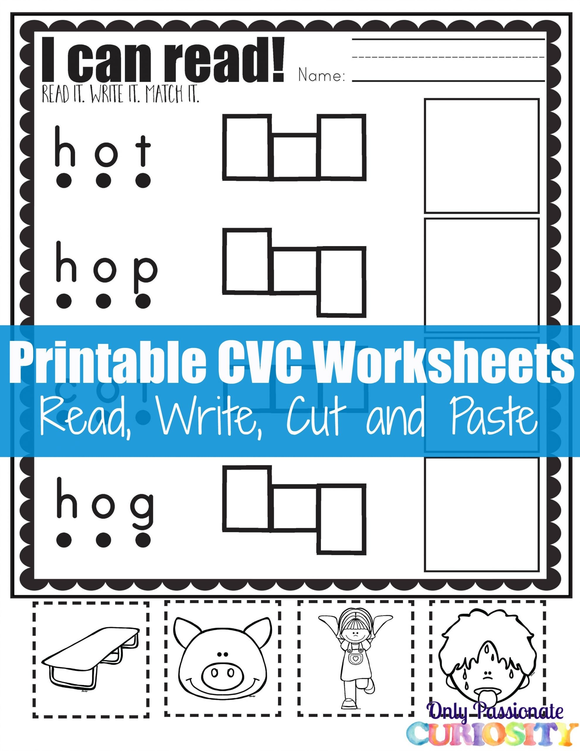 Cvc Cut and Paste Worksheets Cvc Worksheets Cut and Paste Letter O Ly Passionate