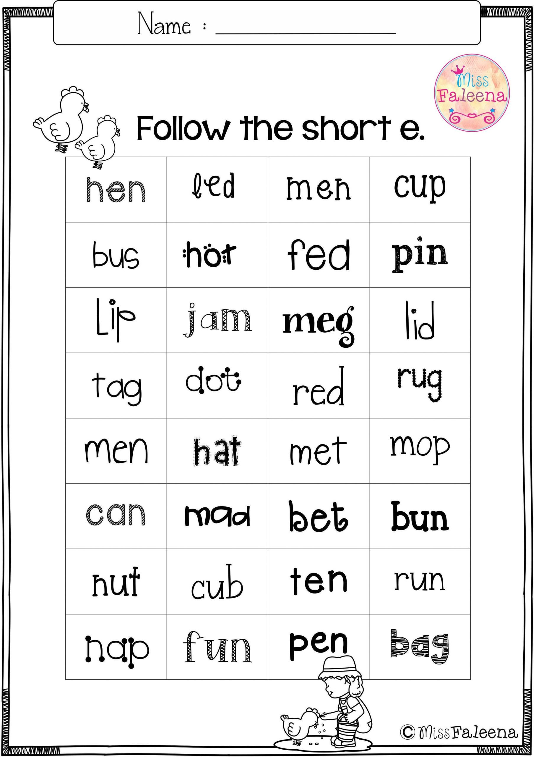 writing cvc words worksheet free cvc short e is designed to help teach children to read build and write cvc words you can use as a class time worksheet or homework 1