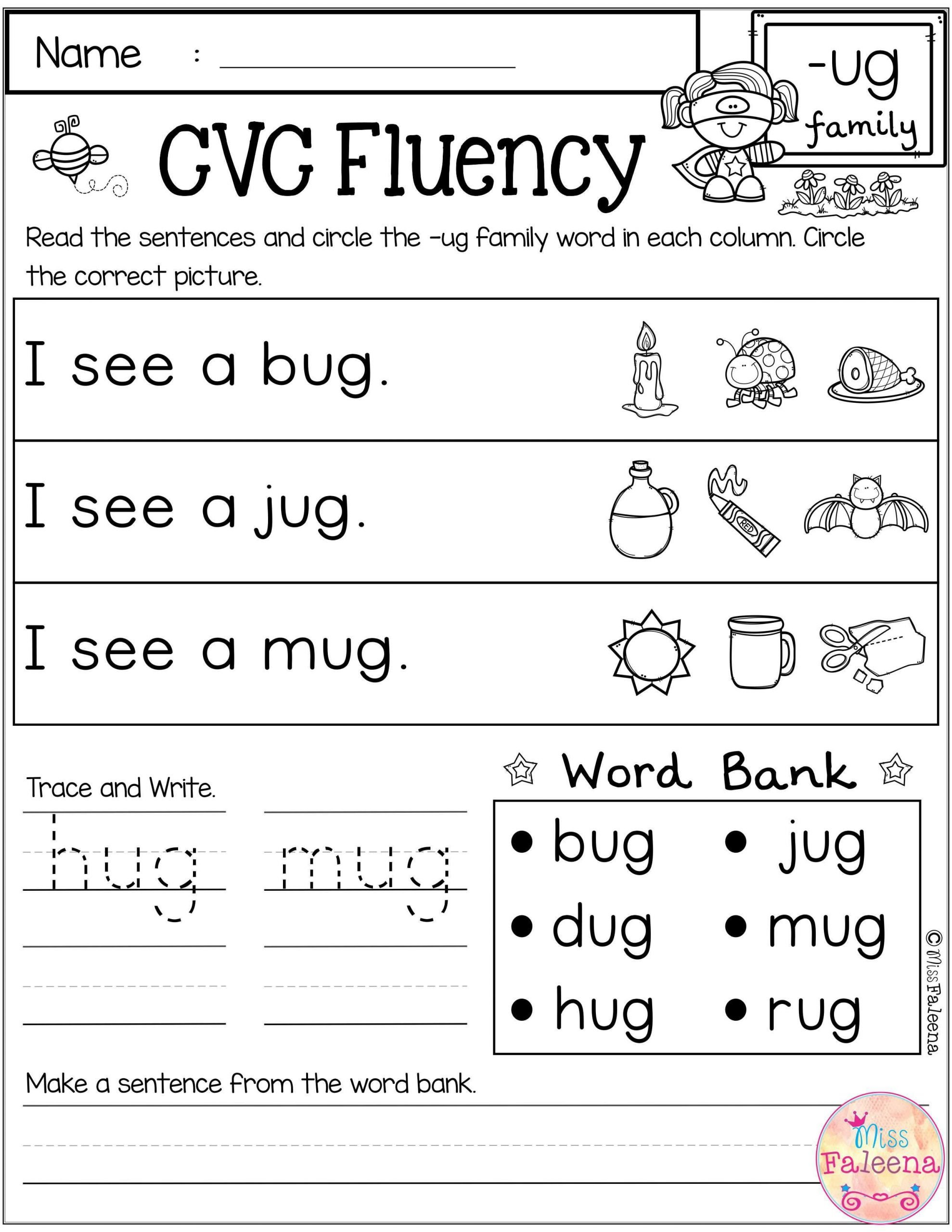 Cvc Words Worksheet Kindergarten Cvc Fluency Has 30 Pages Of Cvc Worksheets these Worksheets