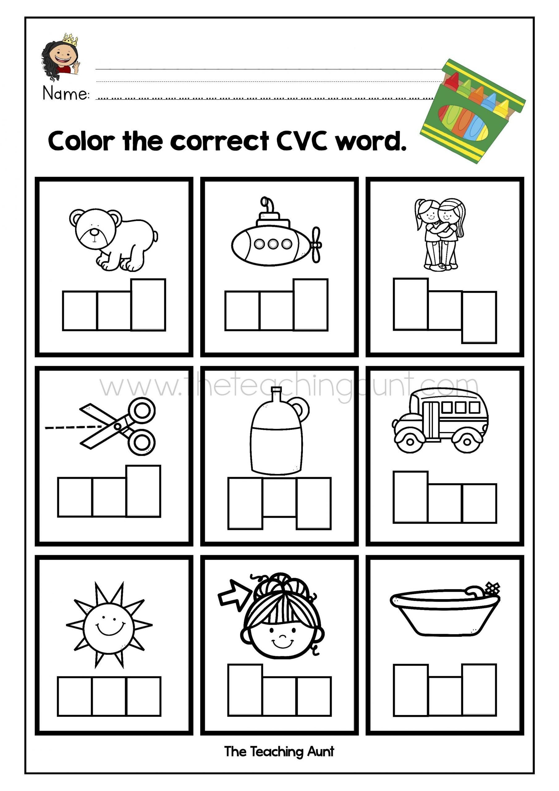 Cvc Words Worksheets Pdf Pin On Free Preschool Flashcards and Worksheets