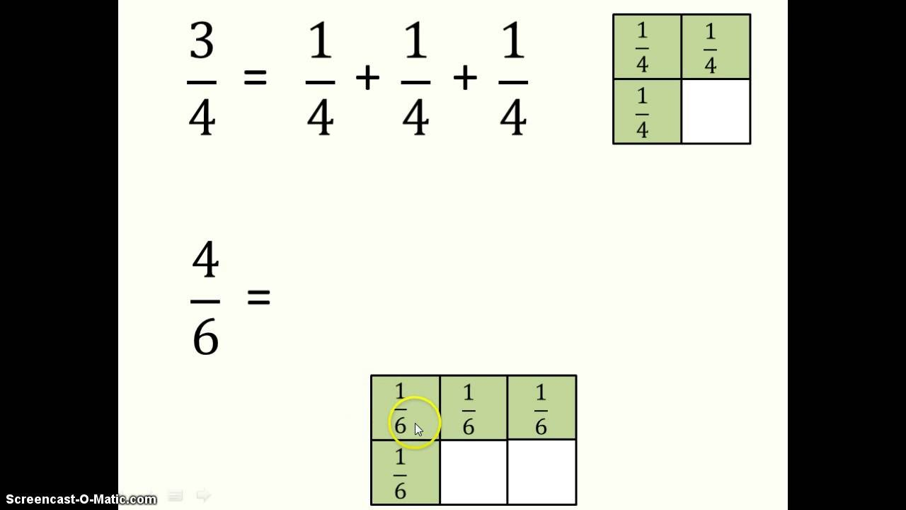 Decomposing Fractions Worksheets 4th Grade Posing and De Posing Fractions
