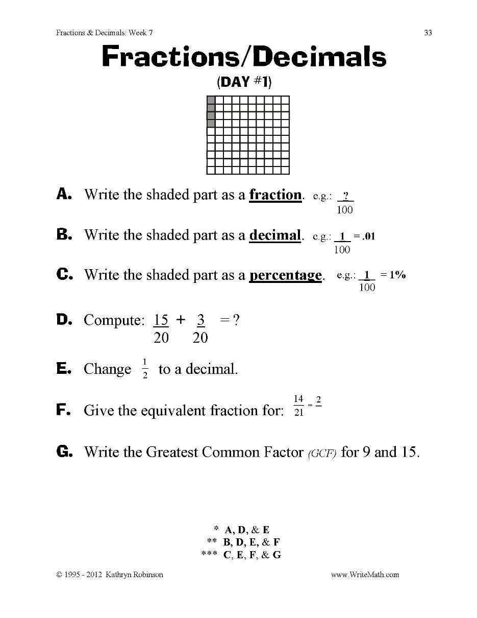 Decomposing Fractions Worksheets 4th Grade Worksheet Extraordinary 4th Grade Math Worksheets