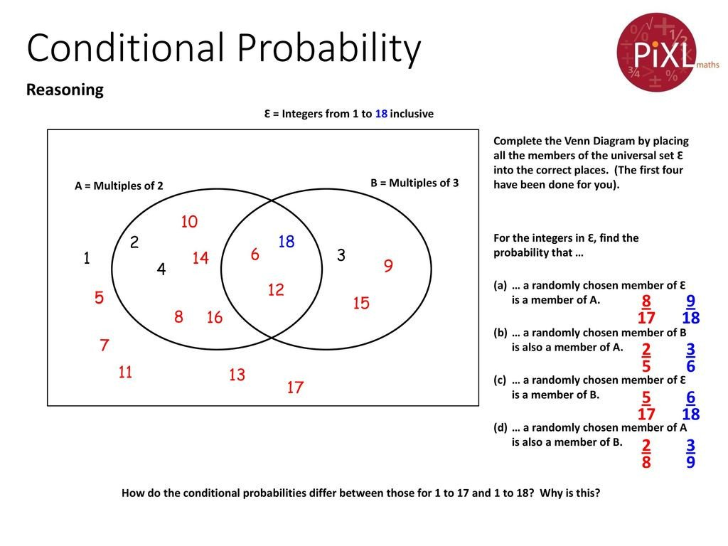Dependent Probability Worksheet with Answers Conditional Probability Ppt