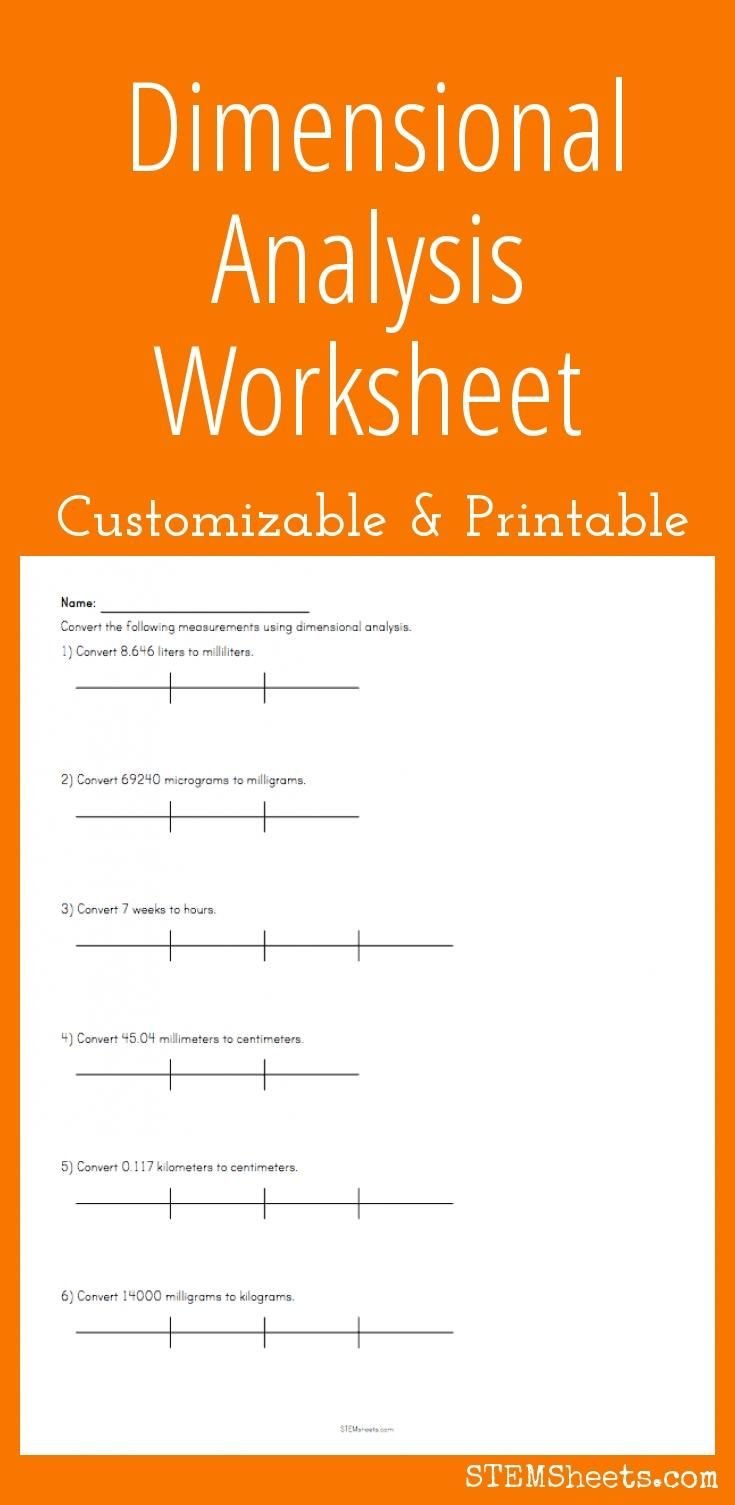 Dimensional Analysis Worksheet Answers Chemistry Dimensional Analysis Worksheet