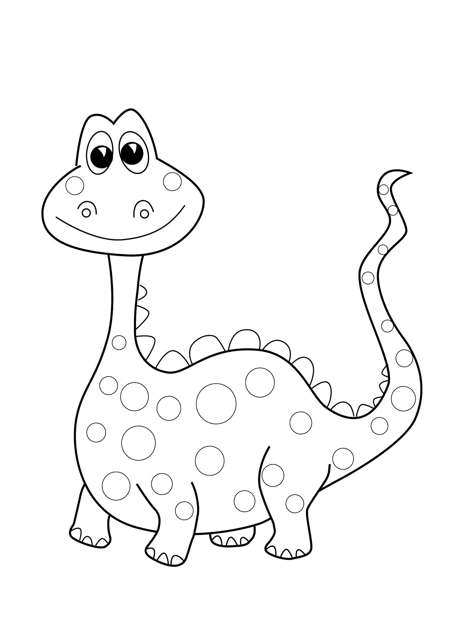 Dinosaur Worksheets Kindergarten Easy Coloring Pages for Preschoolers Haramiran Preschool