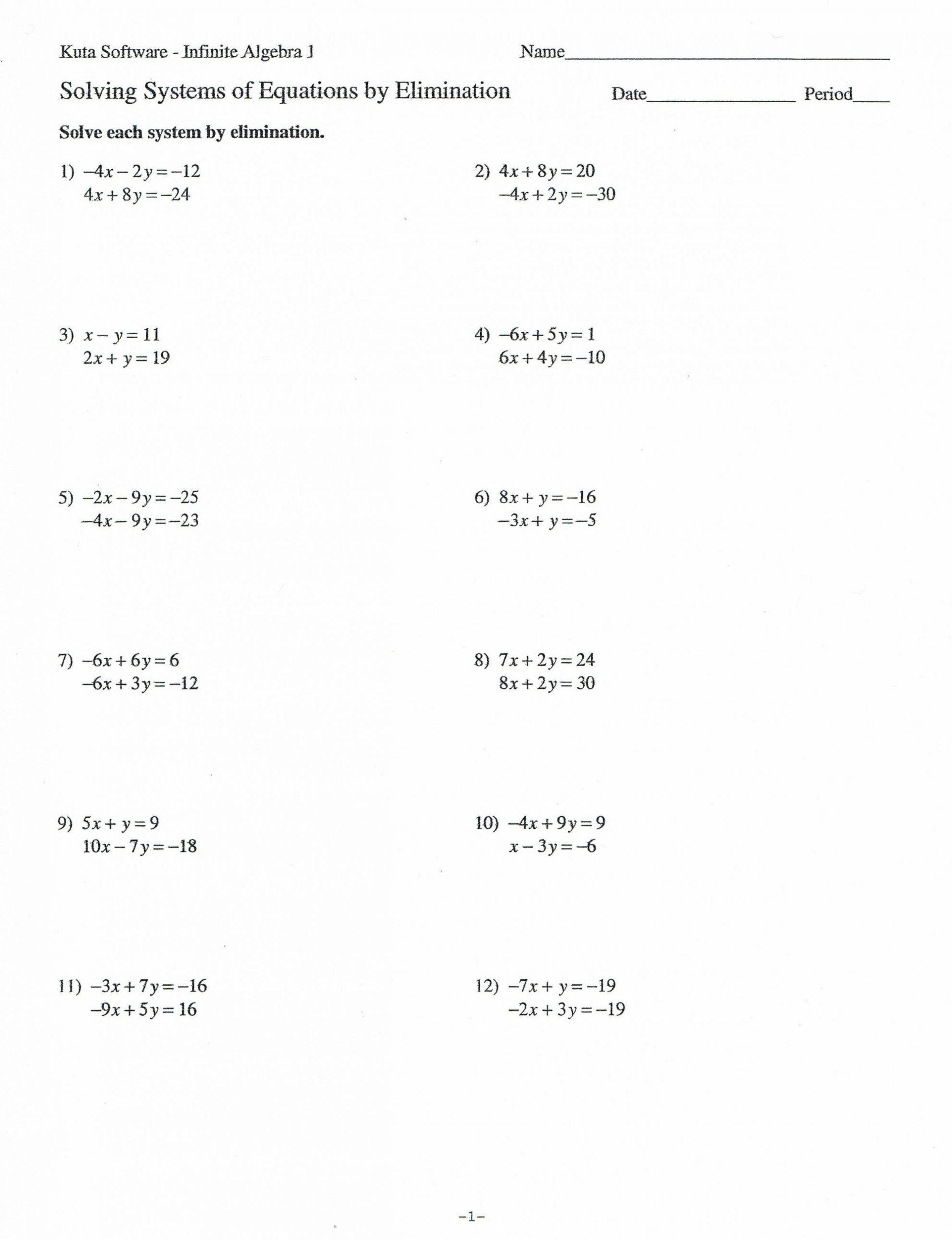 Distributive Property Worksheets 9th Grade Algebra 1 Worksheet Matrices