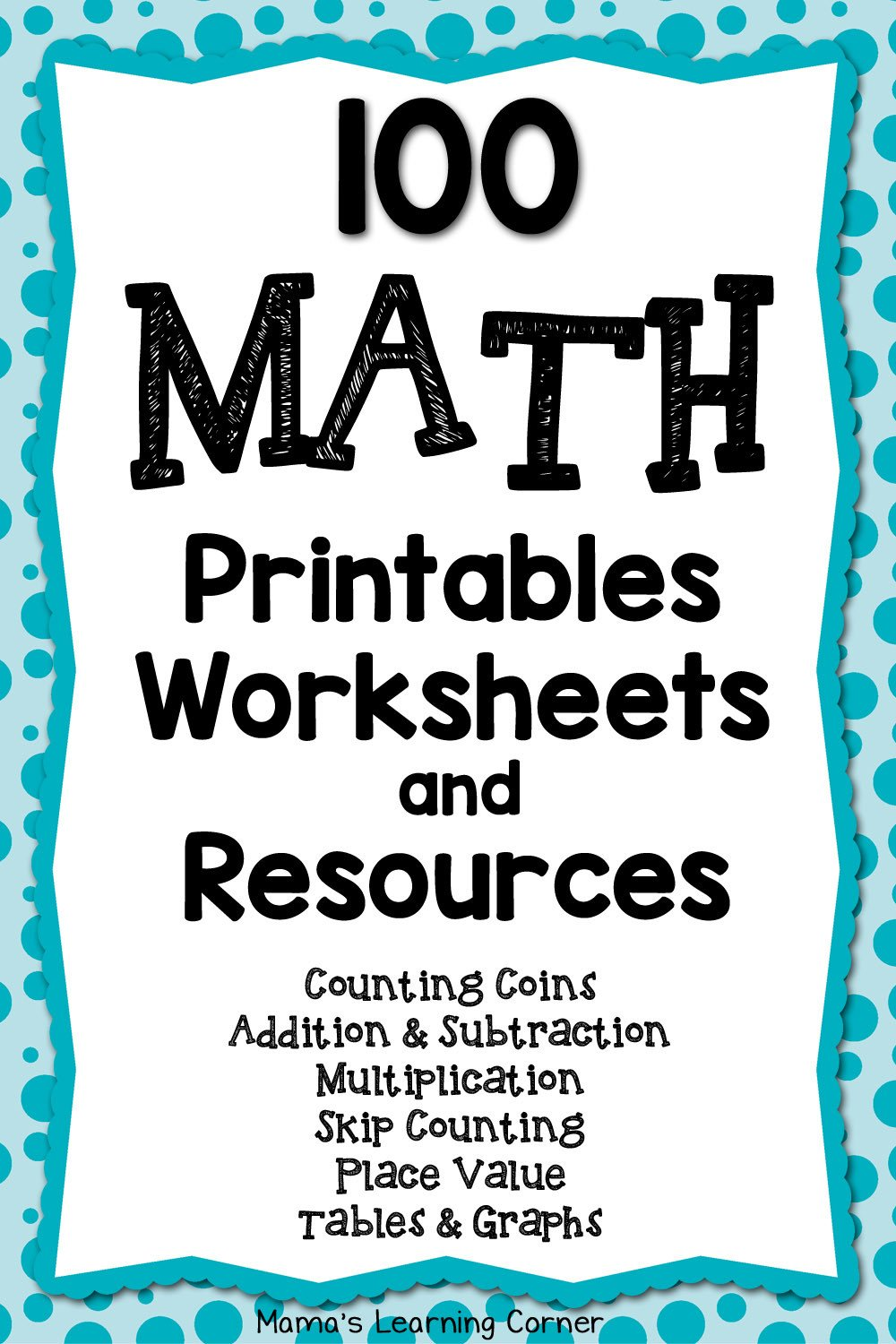 Doubles Math Fact Worksheets 100 Math Printables and Resources Mamas Learning Corner