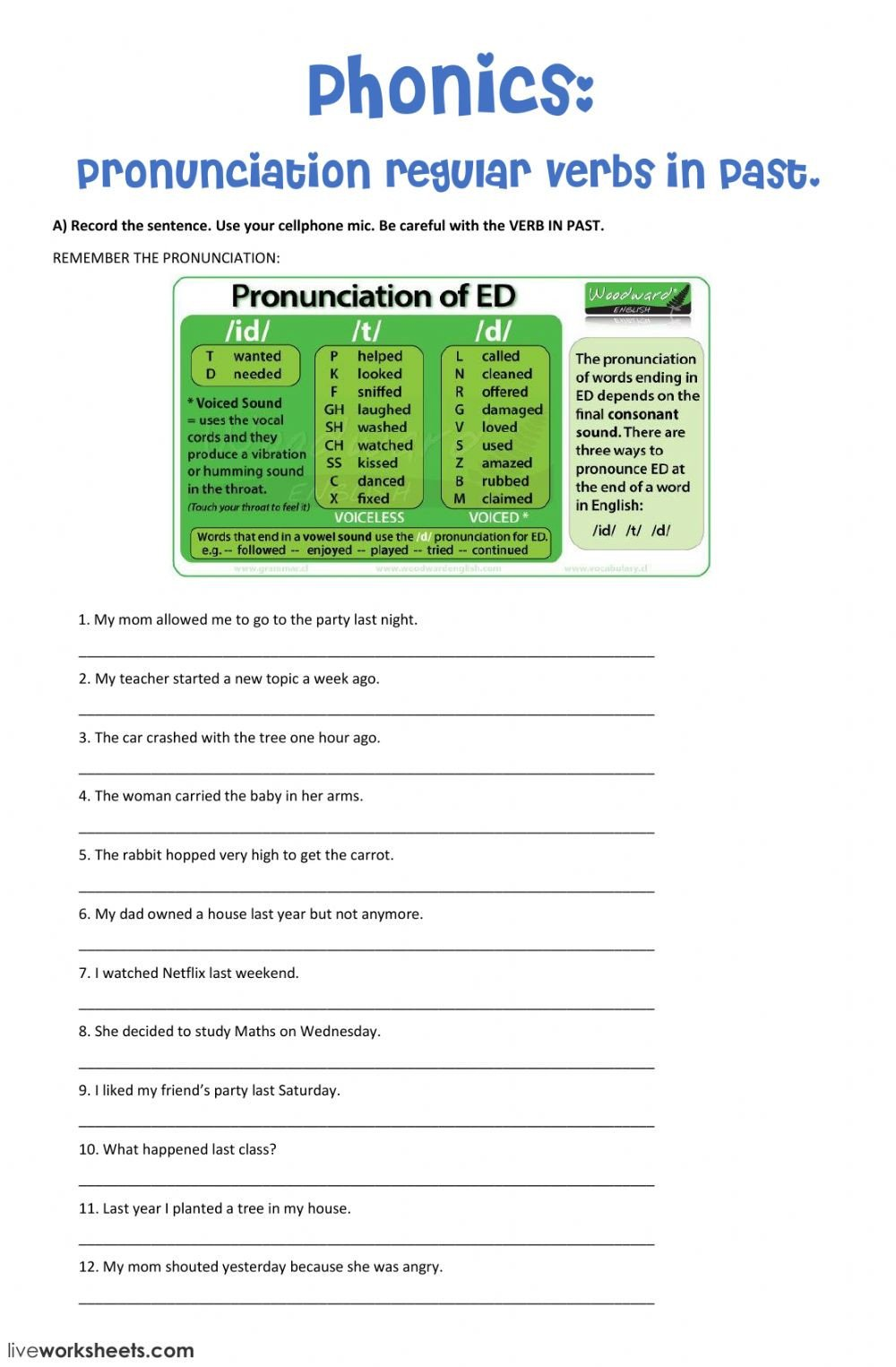 Pronunciation ed endings phonics vs9647ey