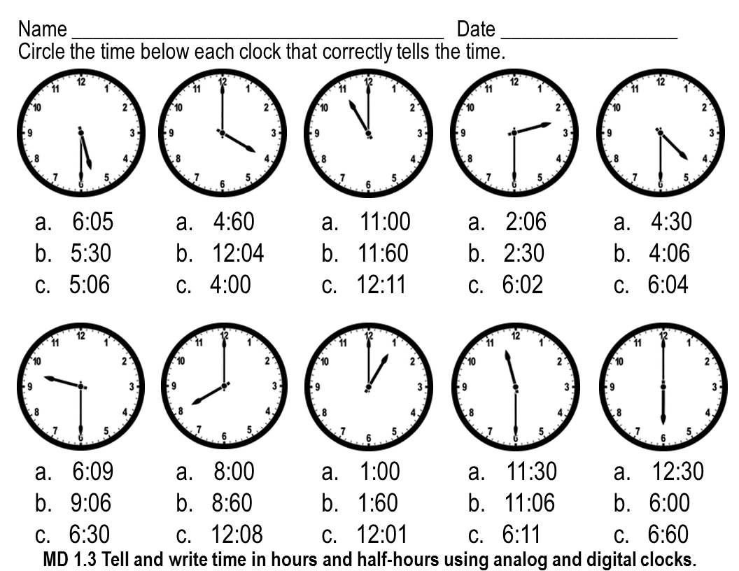 Elapsed Time 3rd Grade Worksheets Telling Time Worksheets Multiple Choice