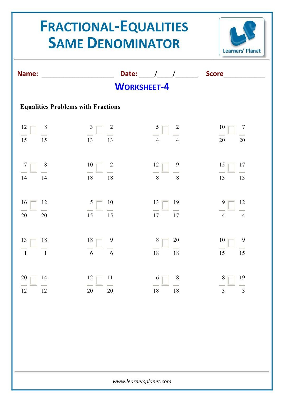 Equivalent Fraction Worksheets 5th Grade Equivalent Fractions Worksheets for 5th Grade