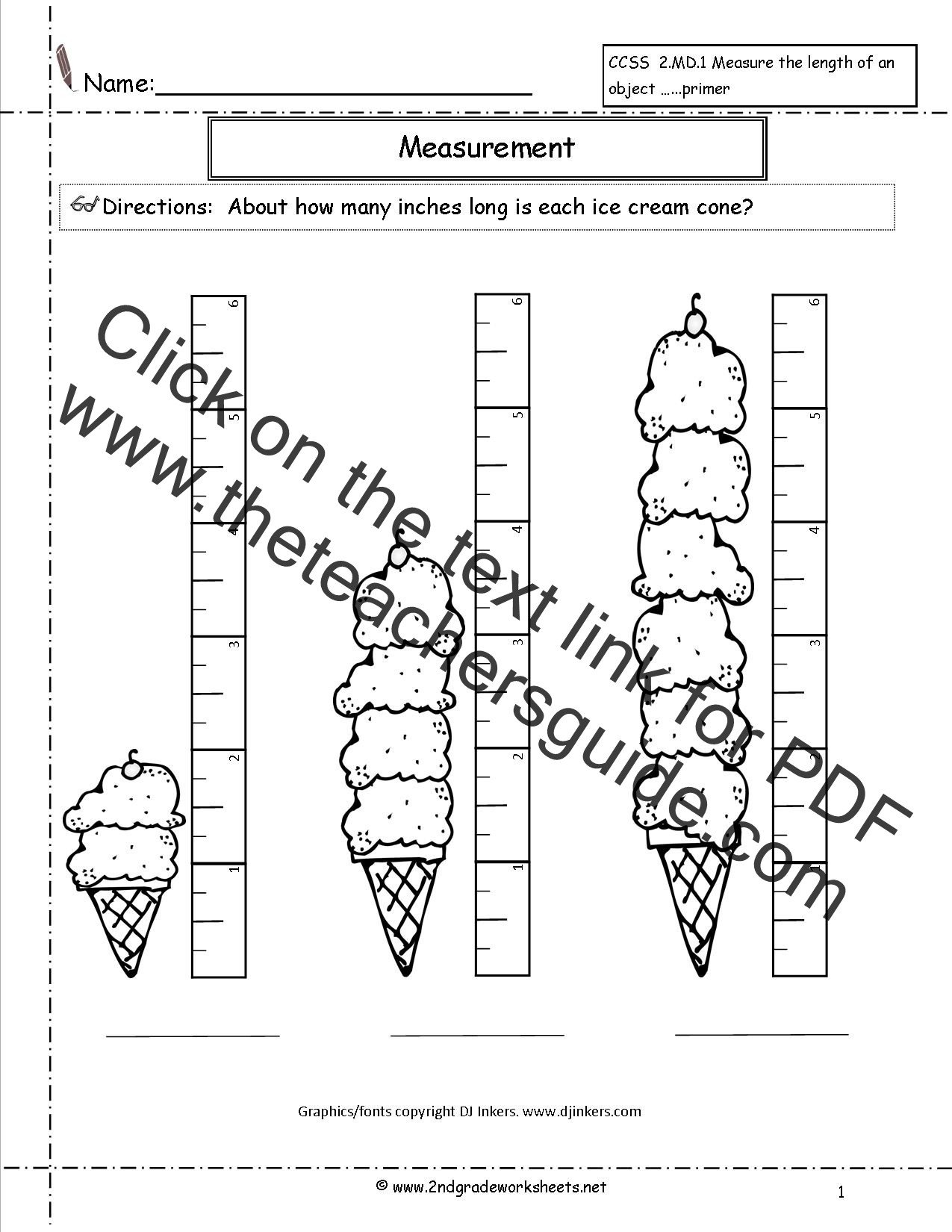 Estimating Measurement Worksheets Ccss 2 Md 1 Worksheets Measuring Worksheets