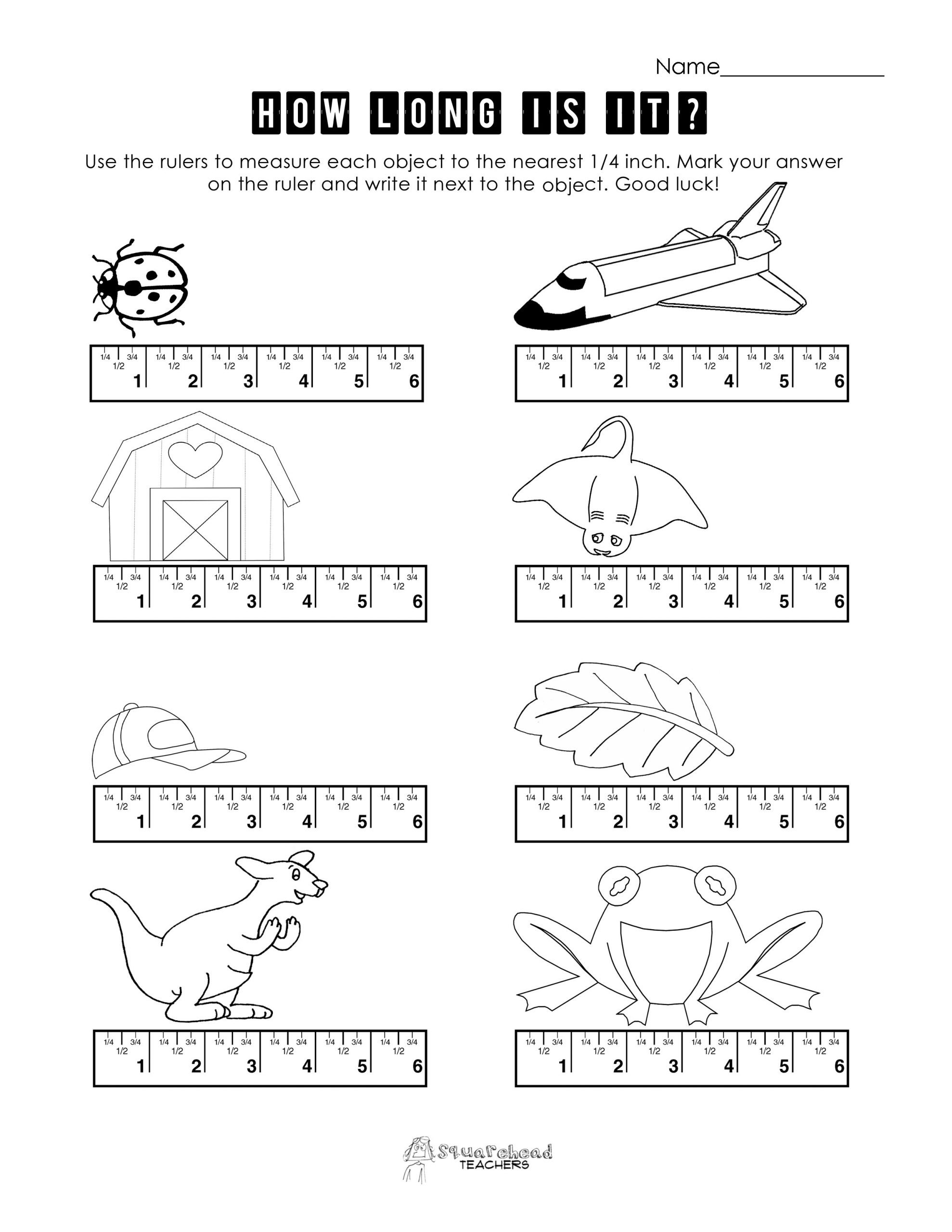 Estimating Measurement Worksheets Measurement Practice 3