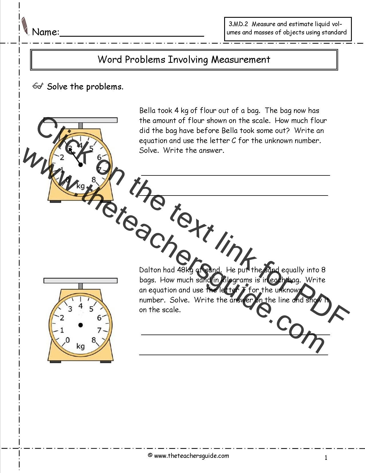 Estimating Measurement Worksheets Telling Time Worksheets From the Teacher S Guide