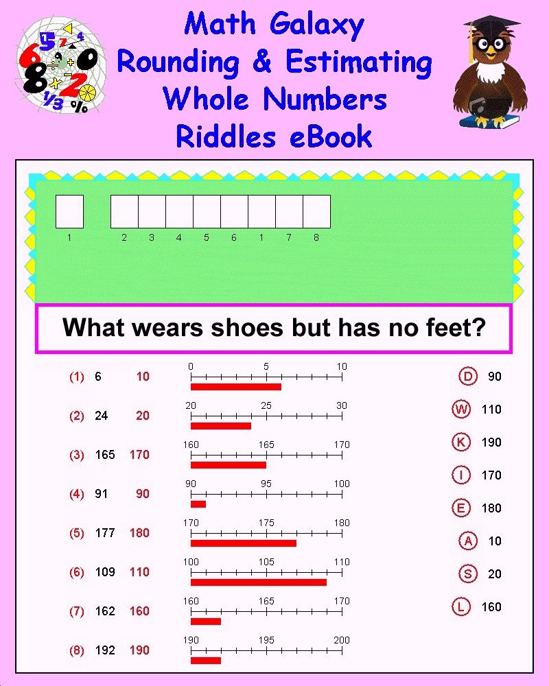 Estimating Numbers Worksheets Math Galaxy Tutorials K12 Math
