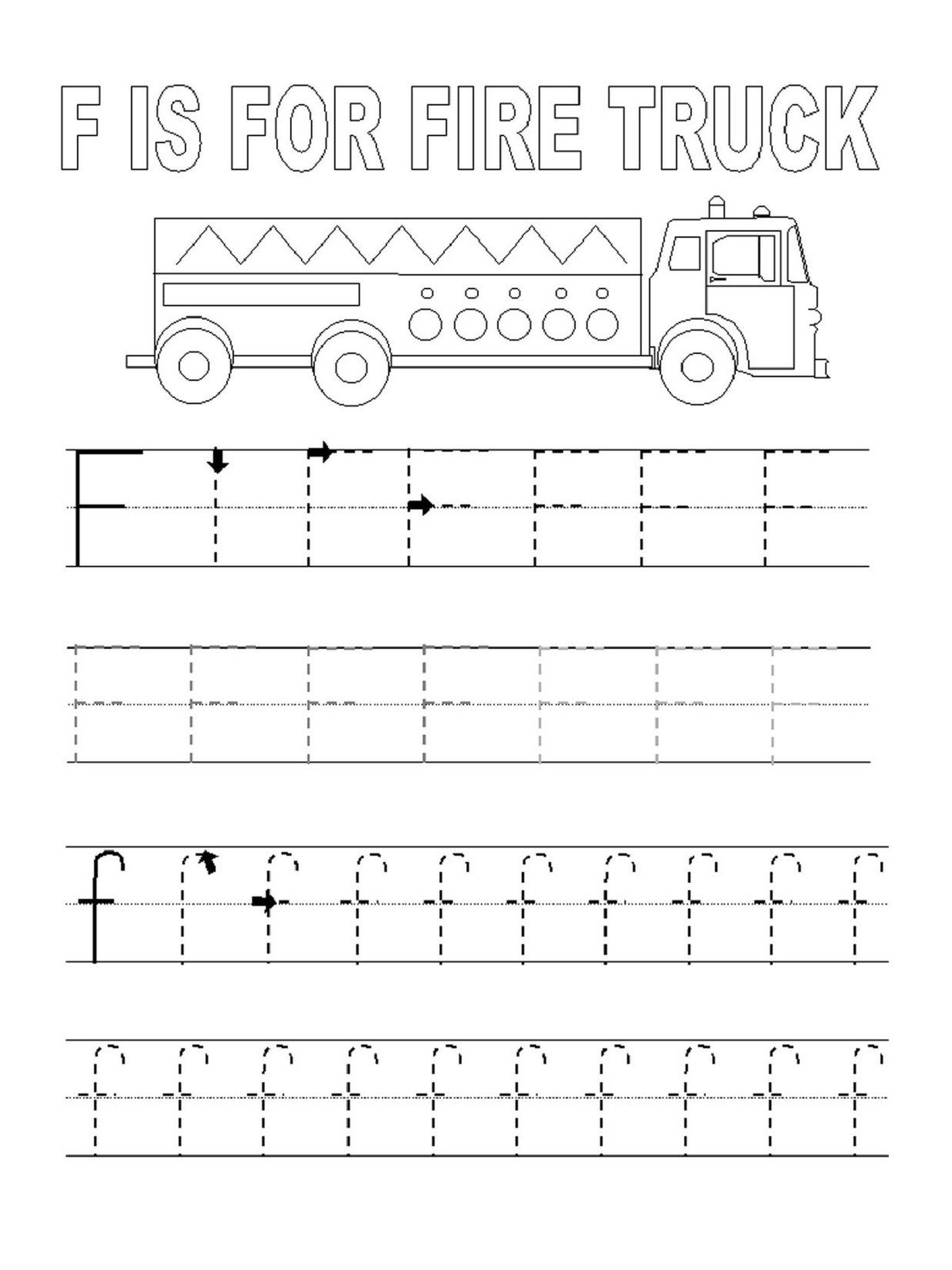 traceable letter worksheets letter F