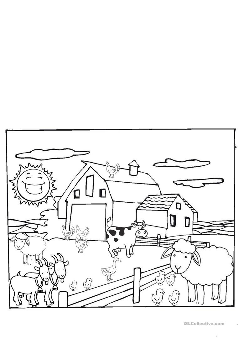 Farm Animals Worksheets for Kindergarten the Farm Animals Kindergarten English Esl Worksheets for