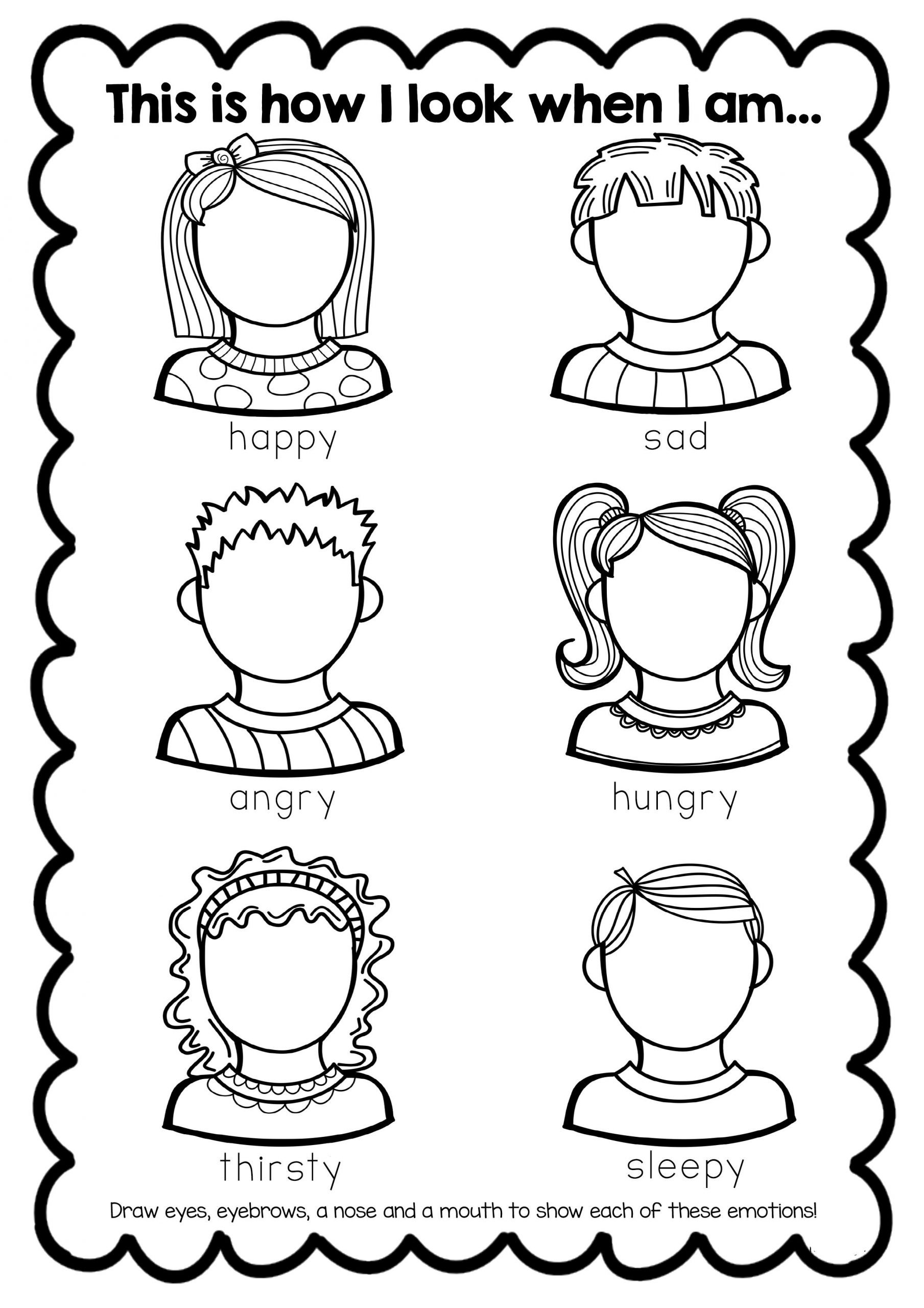 Feelings Worksheets for Kids Free Feelings Esl Worksheet