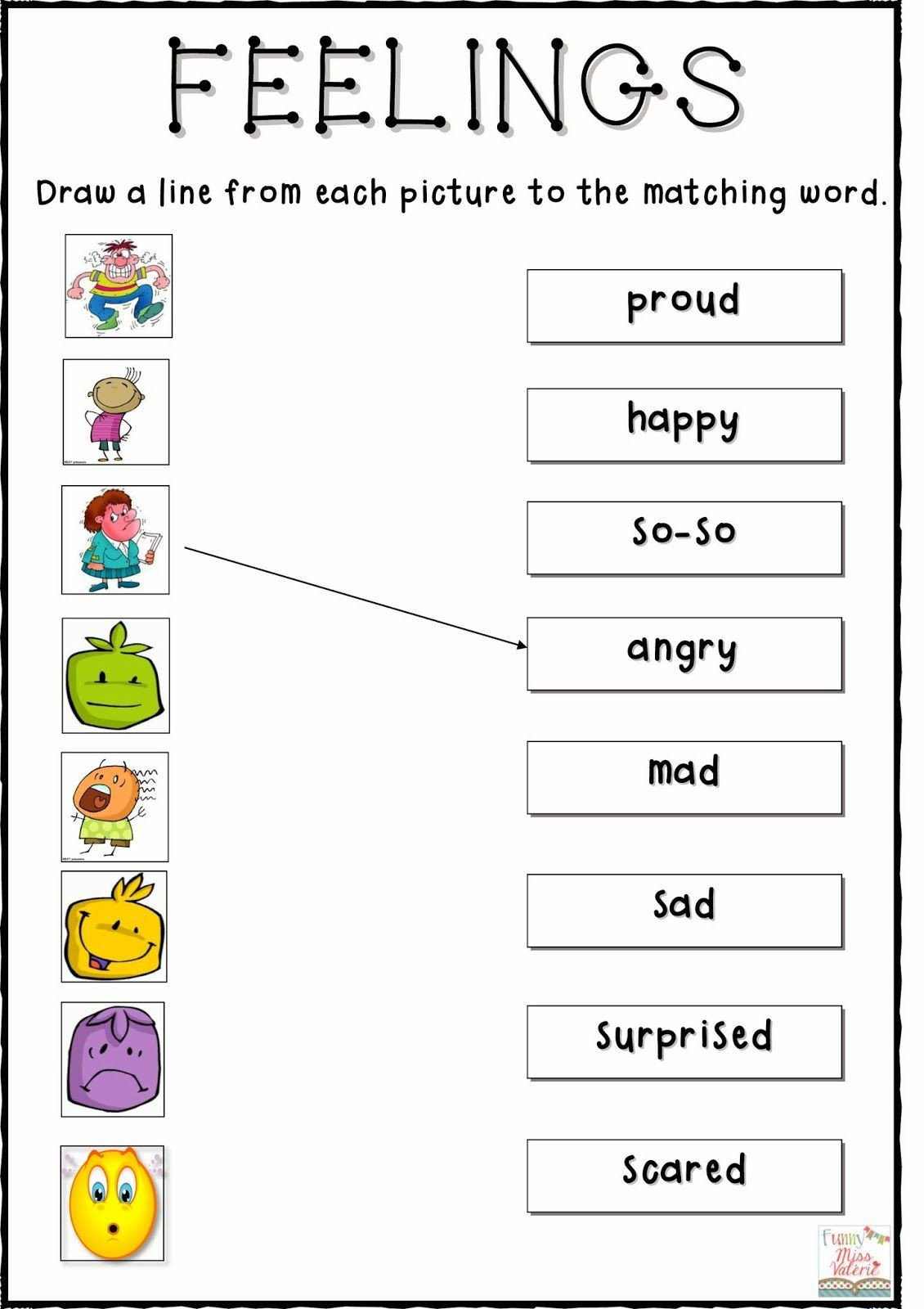 Feelings Worksheets for Kids My Feelings Worksheets In 2020