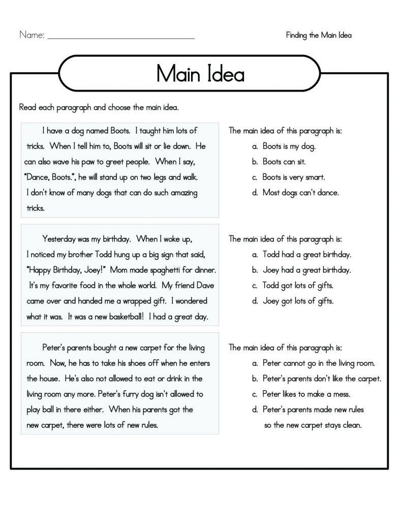 Fiction and Nonfiction Worksheets Pdf 4th Grade Reading Prehension Worksheets Best Coloring