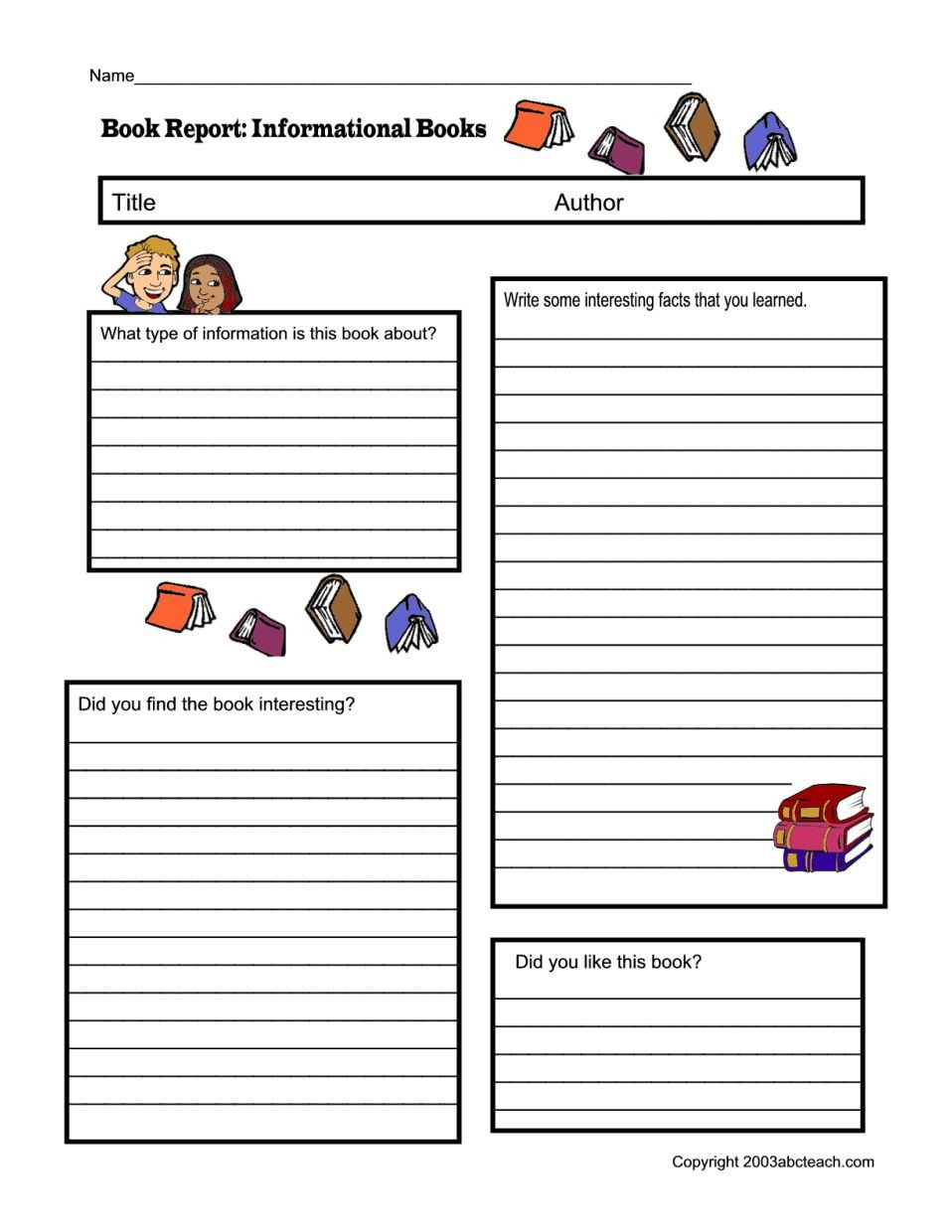 Fiction and Nonfiction Worksheets Pdf the Glamorous Non Fiction Book Report form Pdf