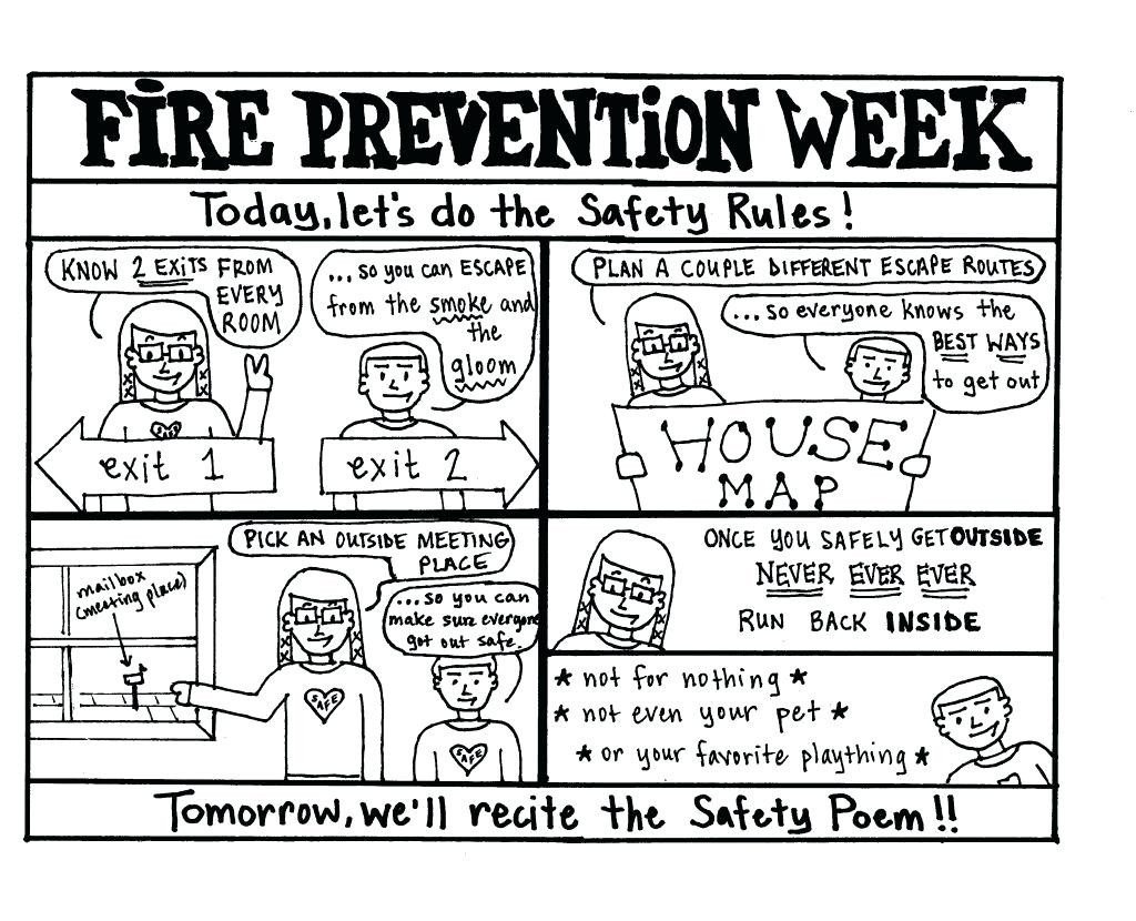 free fire safety book coloring page clip art firefighter preschool printable worksheets
