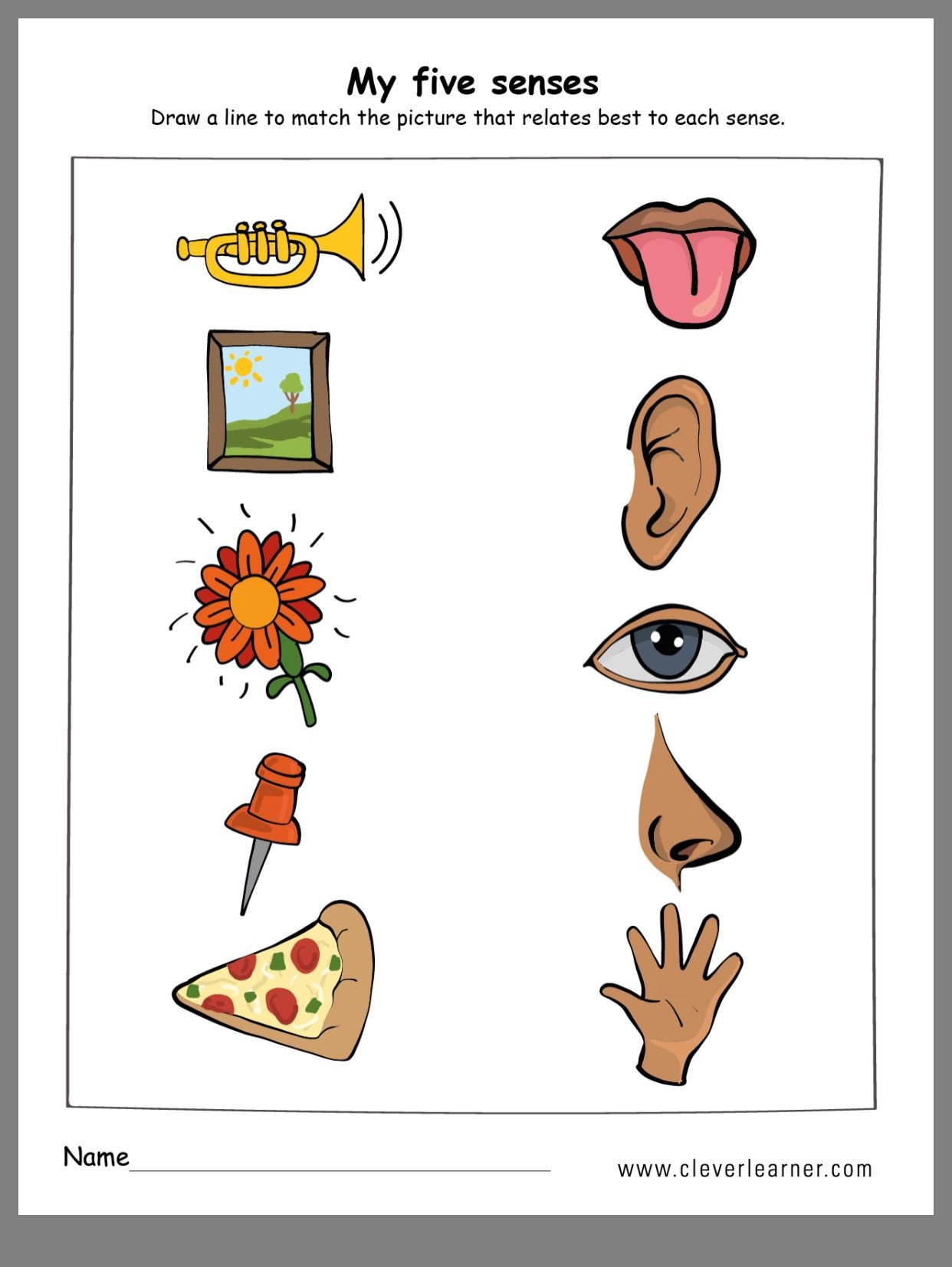 Five Senses Kindergarten Worksheet Pin by Wenshan Liang On All About Me