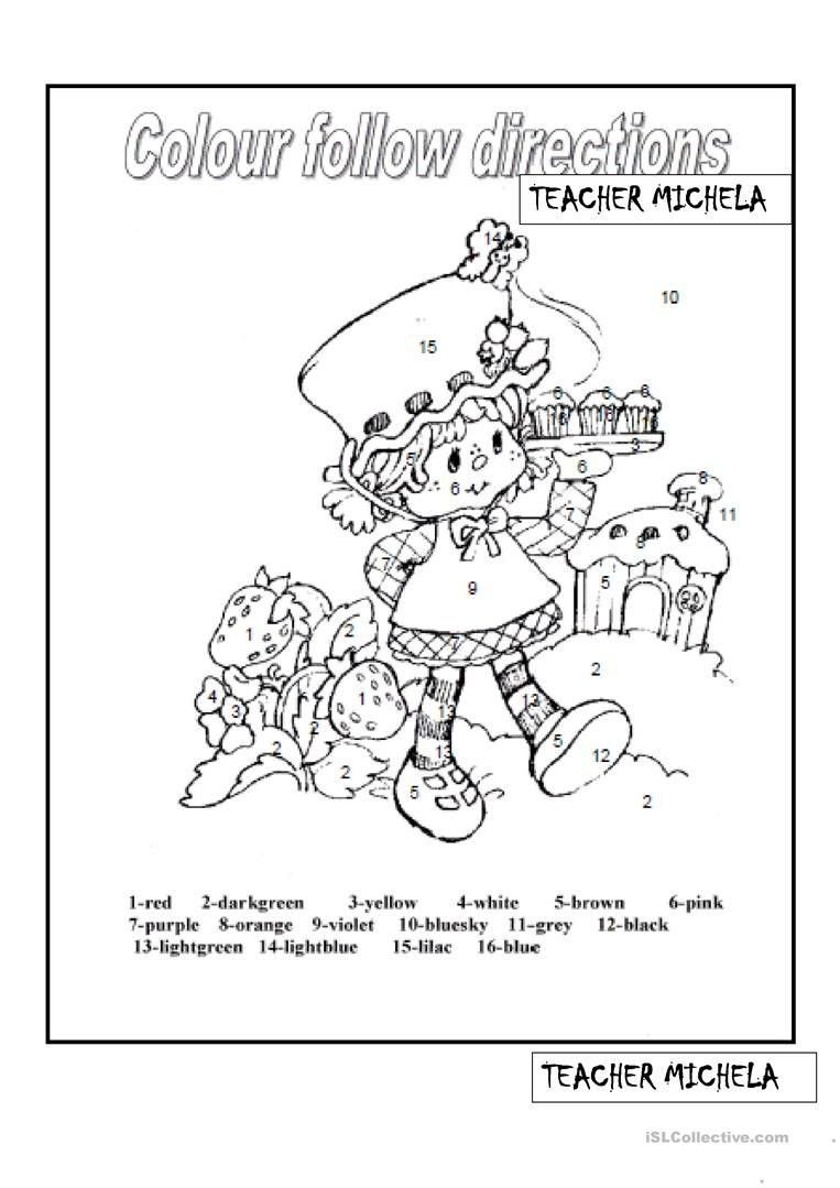 Following Directions Worksheet for Kindergarten Follow Directions Worksheet Kindergarten In 2020