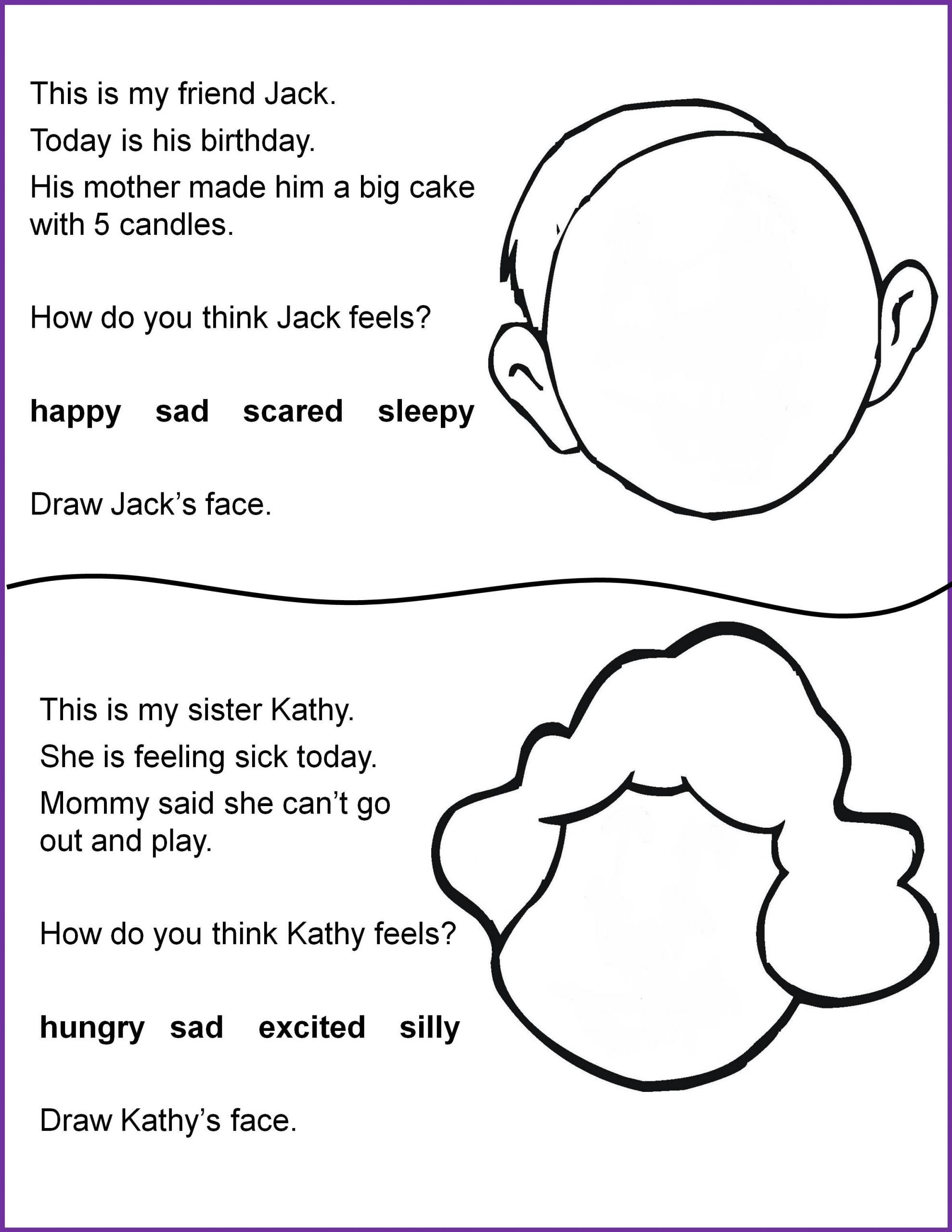 Following Directions Worksheet for Kindergarten Reading and Following Directions Worksheets — Barongs
