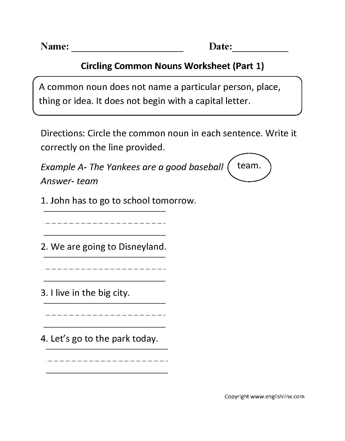 nouns worksheets proper and mon nouns worksheets within following directions worksheet middle school