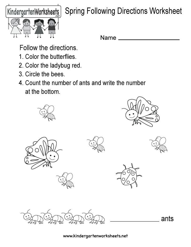 Following Directions Worksheets for Kindergarten Pin On Mandarin Lessons
