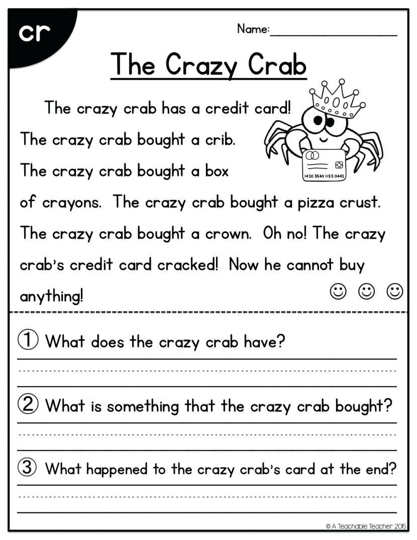 Free 1st Grade Comprehension Worksheets Worksheet Worksheet First Grade Prehension Worksheets