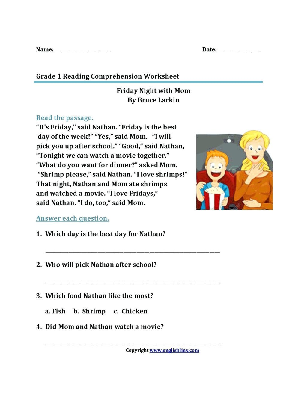 free second grade reading worksheets 2nd prehension pdf printable stories 1024x1325